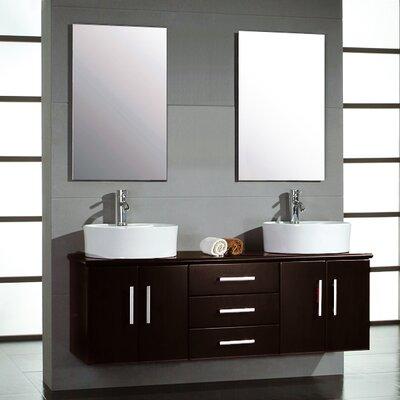 Hematite 59 Double Bathroom Vanity Set with Mirror