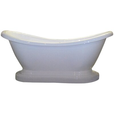 68.63 x 29 Pedestal Slipper  Bathtub Faucet Mount: Yes