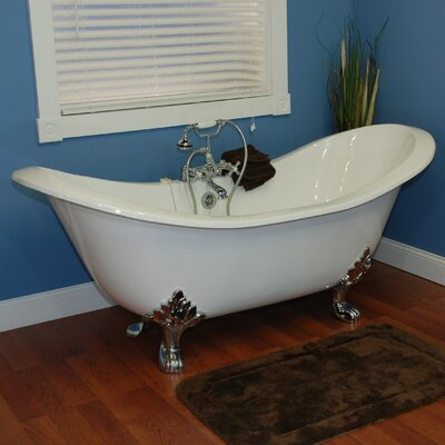 71 x 31 Clawfoot Bathtub Leg Finish: Polished Chrome