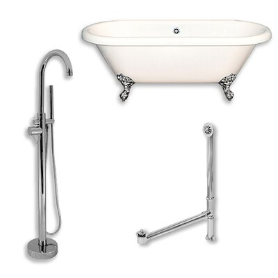 Acrylic 60 x 29 Freestanding Soaking Bathtub Color: Polished Chrome