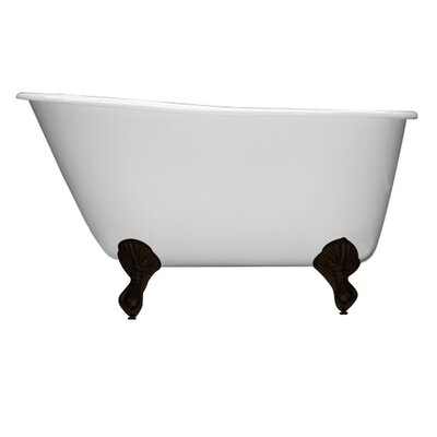 53.5 x 29.5 Claw Foot Slipper Bathtub Leg Finish: Oil Rubbed Bronze