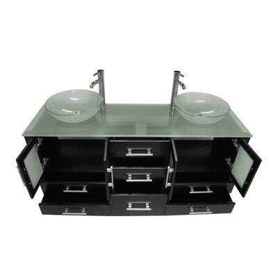 Emerald 64 Double Bathroom Vanity Set with Mirror