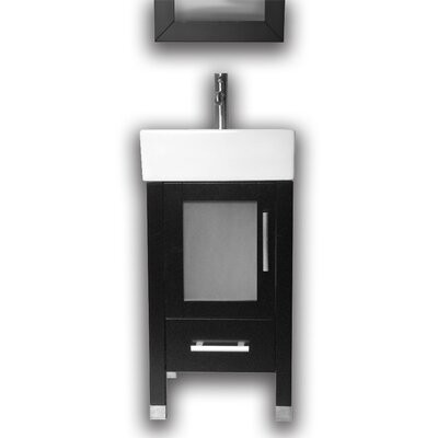 Searle 18 Single Bathroom Vanity Set with Mirror Base Finish: Espresso