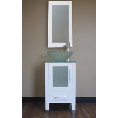 Secrest 18 Single Bathroom Vanity Set with Mirror Base Finish: White