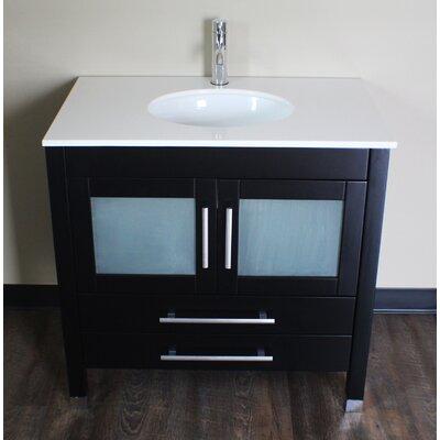 Seawell 36 Single Bathroom Vanity Set Faucet Finish: Brushed Nickel