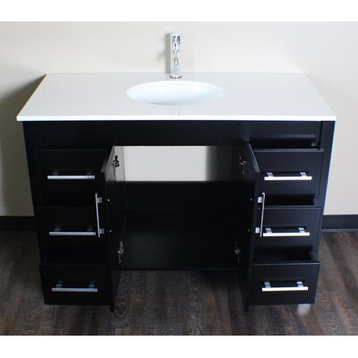 Sedlak 48 Single Bathroom Vanity Set Faucet Finish: Brushed Nickel