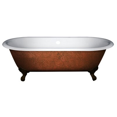 Cast Iron Clawfoot 67 x 30 Freestanding Soaking Bathtub