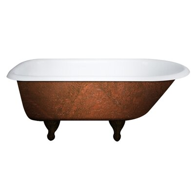 Cast Iron Clawfoot 61 x 30 Freestanding Soaking Bathtub
