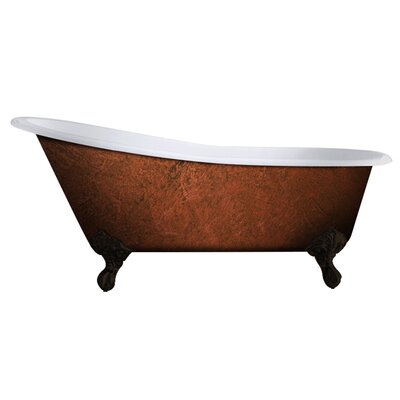Cast Iron Clawfoot 67 x 30 Freestanding Soaking Bathtub