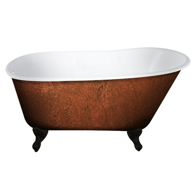 Cast Iron Clawfoot 58 x 30 Freestanding Soaking Bathtub