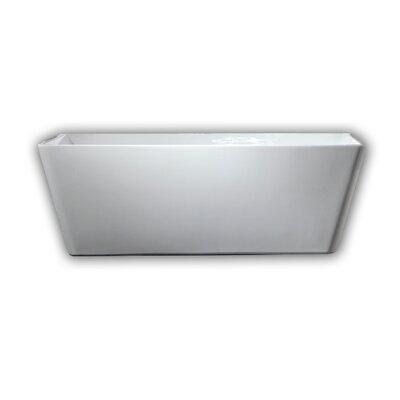 29.5 x 67 Freestanding Soaking Bathtub Drain Color: Brushed Nickel
