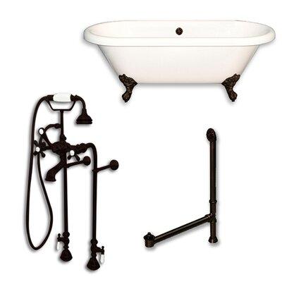 Acrylic 60 x 29 Freestanding Soaking Bathtub Color: Oil Rubbed Bronze