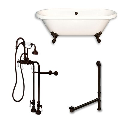 Acrylic 60 x 29 Freestanding Soaking Bathtub Color: Oil Rubbed Bronze