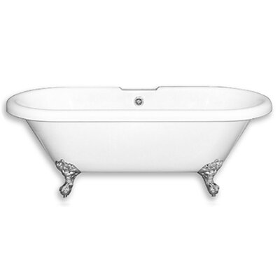 Acrylic 60 x 29 Freestanding Soaking Bathtub Color: Polished Chrome