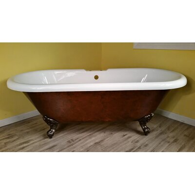 Acrylic Slipper Clawfoot 60 x 30 Freestanding Soaking Bathtub