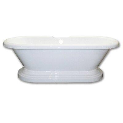 Acrylic 60 x 29 Freestanding Soaking Bathtub