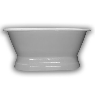 Cast Iron Double Ended Freestanding Soaking Bathtub Size: 60 H x 30 W x 24 D