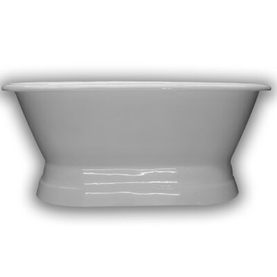 Cast Iron Double Ended Freestanding Soaking Bathtub Size: 66 H x 30 W x 24 D