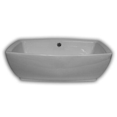 Poplar Rectangular Vessel Bathroom Sink