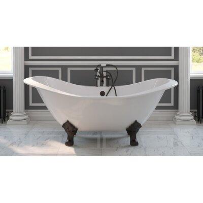 71 x 30 Clawfoot Bathtub Finish: Oil Rubbed Bronze