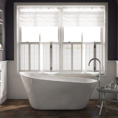 29.5 x 67 Freestanding Soaking Bathtub Drain Color: Polished Chrome