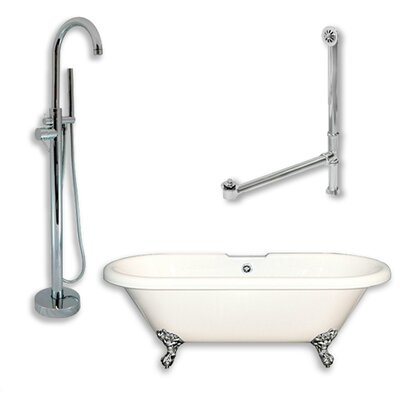 70 x 30 Clawfoot Bathtub Finish: Polished Chrome