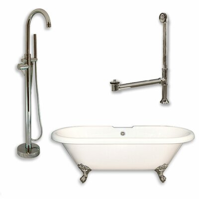 70 x 30 Clawfoot Bathtub Finish: Brushed Nickel