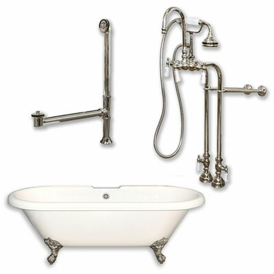70 x 30 Clawfoot Bathtub Finish: Brushed Nickel