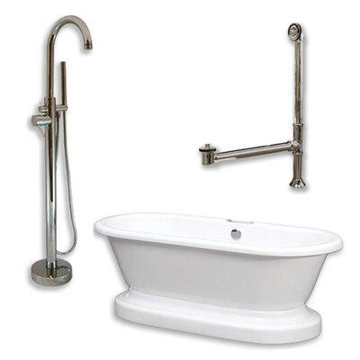 70 x 30 Freestanding Bathtub Finish: Brushed Nickel