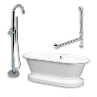 70 x 30 Freestanding Bathtub Finish: Polished Chrome