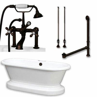 70 x 30 Freestanding Soaking Bathtub Color: Oil Rubbed Bronze