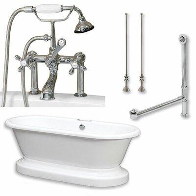 70 x 30 Freestanding Soaking Bathtub Color: Polished Chrome