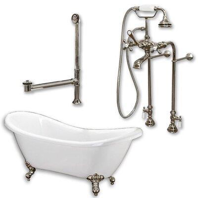 68 x 29 Clawfoot Bathtub Finish: Brushed Nickel