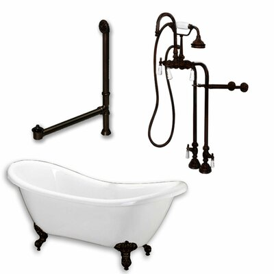 68 x 29 Clawfoot Bathtub Finish: Oil Rubbed Bronze