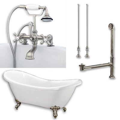 68 x 29 Clawfoot Bathtub Finish: Brushed Nickel