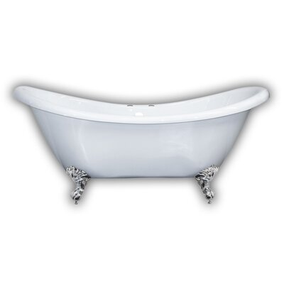 69 x 29 Clawfoot Bathtub Leg Finish: Brushed Nickel, Faucet Drillings: Yes