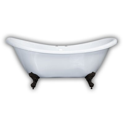 69 x 29 Clawfoot Bathtub Leg Finish: Oil Rubbed Bronze, Faucet Drillings: Yes