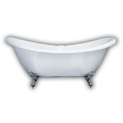 69 x 29 Clawfoot Bathtub Leg Finish: Polished Chrome, Faucet Drillings: Yes