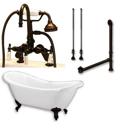 68 x 29 Clawfoot Bathtub Finish: Oil Rubbed Bronze