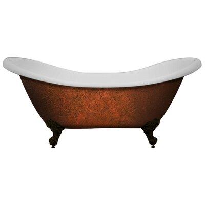 Acrylic Slipper Clawfoot 70 x 30 Freestanding Soaking Bathtub