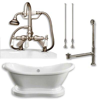 68 x 29 Freestanding Bathtub Finish: Brushed Nickel
