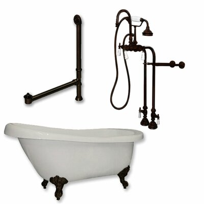 67 x 28 Clawfoot Soaking Bathtub Finish: Oil Rubbed Bronze