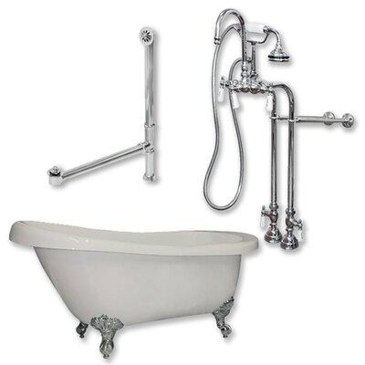 67 x 28 Clawfoot Soaking Bathtub Finish: Polished Chrome