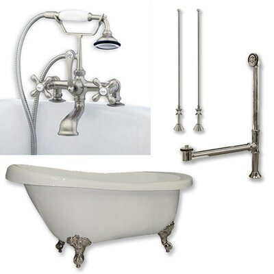 61 x 28 Clawfoot Bathtub Finish: Brushed Nickel