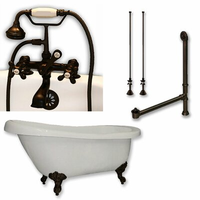 61 x 28 Clawfoot Bathtub Finish: Oil Rubbed Bronze