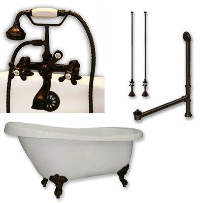 61 x 28 Clawfoot Bathtub Finish: Oil Rubbed Bronze