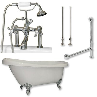 67 x 28 Clawfoot Bathtub Finish: Polished Chrome