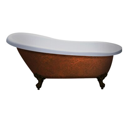 61 x 28 Clawfoot Soaking Bathtub