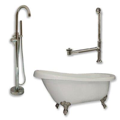 67 x 28 Clawfoot Bathtub Finish: Brushed Nickel