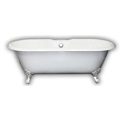67 x 31 Clawfoot Bathtub Leg Finish: Brushed Nickel, Faucet Mount: No